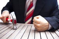 Сердитый бизнесмен Стоковое Фото