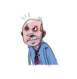сердитый бизнесмен Стоковые Фото