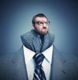сердитый бизнесмен стоковые изображения rf