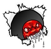 сердитый вектор иллюстрации стороны Стоковая Фотография RF