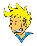 Сердитый гнев волос Mohawk мальчика Стоковое Изображение RF