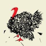Сердитый индюк с красной шеей Стоковое Фото
