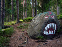 Сердитый камень Стоковые Изображения RF