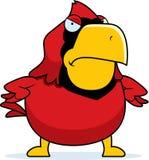 Сердитый кардинал шаржа иллюстрация вектора