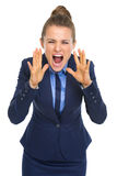 Сердитый кричать бизнес-леди Стоковое фото RF