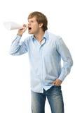 сердитый кричать человека Стоковые Фото