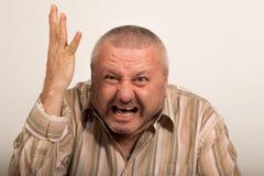 Сердитый кричать человека Стоковая Фотография RF