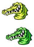 сердитый крокодил Стоковые Изображения RF