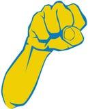 Сердитый кулак, локоть Стоковые Фото