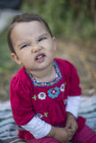 сердитый малыш Стоковое Фото
