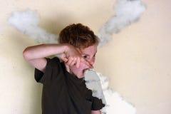 Сердитый мальчик стоковые фотографии rf