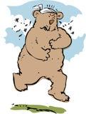 сердитый медведь иллюстрация вектора