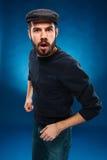 Сердитый молодой человек Стоковое фото RF