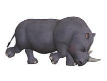 Сердитый носорог шаржа 3d Стоковые Изображения RF