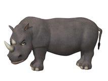 Сердитый носорог шаржа 3d Стоковая Фотография RF