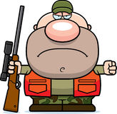 Сердитый охотник шаржа Стоковое фото RF