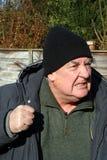 сердитый пожилой человек Стоковая Фотография
