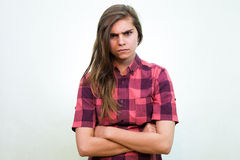 сердитый подросток Стоковые Фото