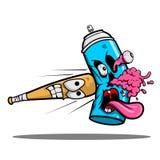 Сердитый пунш ручки бейсбола зомби краски для пульверизатора Стоковая Фотография RF