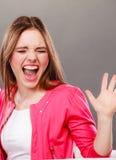 Сердитый плакать девушки женщины осадки Стоковая Фотография RF