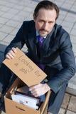 Сердитый работник офиса потерял его работу Стоковые Фотографии RF
