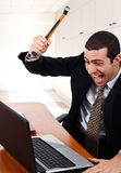 сердитый работник Стоковая Фотография