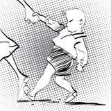 Сердитый ребёнок Стоковое фото RF