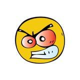 Сердитый смайлик Стоковые Изображения