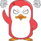 Сердитый талисман пингвина Стоковое Фото