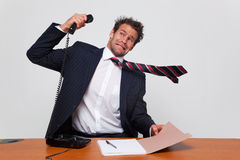 сердитый телефон звонока Стоковое Изображение RF