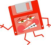 сердитый флапи-диск Стоковое Фото