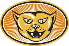 Сердитый фронт головки кота ретро Стоковая Фотография RF