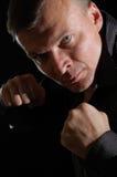 сердитый человек бокса Стоковое Изображение
