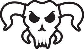 Сердитый череп быка с большими рожками Стоковое Изображение RF