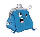 Сердитый шарж бумажника Стоковая Фотография RF