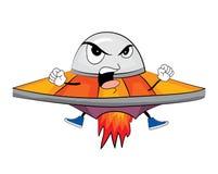 Сердитый шарж корабля чужеземца Стоковые Фотографии RF