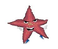 Сердитый шарж морской звезды Стоковая Фотография RF