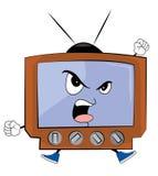 Сердитый шарж ТВ Стоковое Фото
