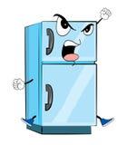 Сердитый шарж холодильника Стоковые Фотографии RF