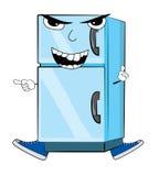 Сердитый шарж холодильника Стоковое Изображение RF