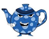 Сердитый шарж чайника Стоковая Фотография