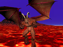 сердитый демон Стоковое Изображение RF