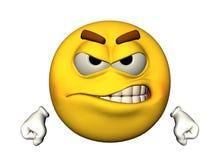 сердитый emoticon 3D Стоковое Изображение
