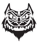 сердитый tattoo конструкции кота Стоковая Фотография