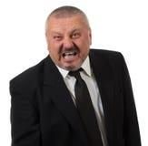 сердитым ая бизнесменом изолированная белизна красного цвета очень Стоковое Изображение RF