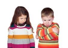 2 сердитых дет Стоковое Изображение RF