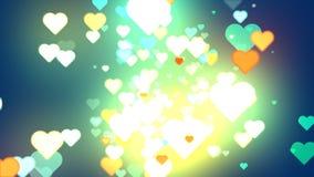 Сердца абстрактных предпосылок Стоковые Фотографии RF