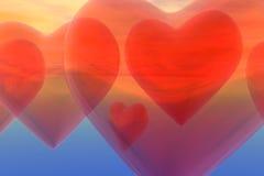 Сердца баллона Стоковые Изображения RF