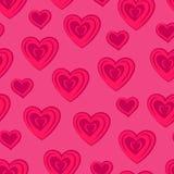 Сердца безшовное картины розовое Стоковая Фотография