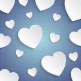 сердца белые Стоковое Изображение RF